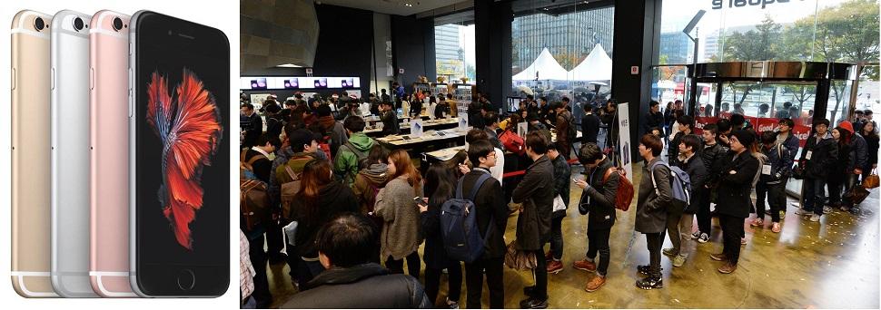 아이폰6s,오늘 출시,스마트폰 10월 대전 후끈