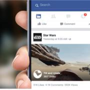 페이스북, 360도 볼 수 있는 동영상 서비스 출시