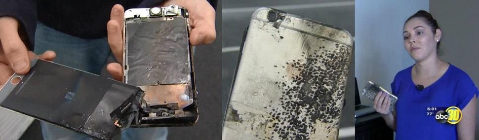 애플 아이폰도 일주일새 3대 발화로 불에 타는 사건 발생,미 언론 안전경고