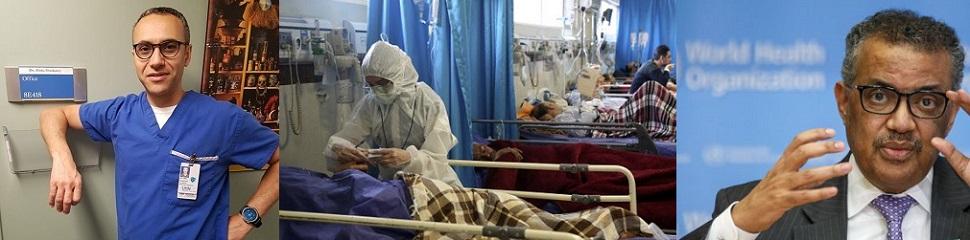 """캐나다 감염질환 전문의 글""""이성상실,두려움의 범람,더 큰 재앙""""폭풍반향"""